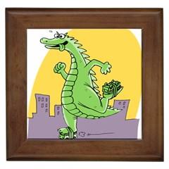 Godzilla Dragon Running Skating Framed Tiles