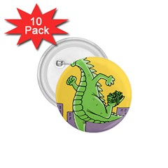 Godzilla Dragon Running Skating 1.75  Buttons (10 pack)