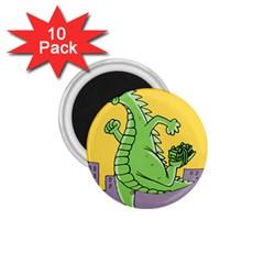 Godzilla Dragon Running Skating 1.75  Magnets (10 pack)