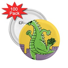 Godzilla Dragon Running Skating 2.25  Buttons (100 pack)