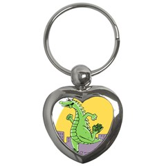 Godzilla Dragon Running Skating Key Chains (Heart)