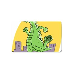 Godzilla Dragon Running Skating Magnet (Name Card)