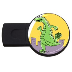 Godzilla Dragon Running Skating USB Flash Drive Round (1 GB)