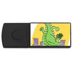 Godzilla Dragon Running Skating USB Flash Drive Rectangular (1 GB)
