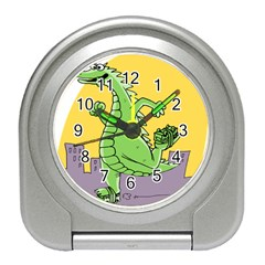 Godzilla Dragon Running Skating Travel Alarm Clocks