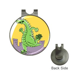 Godzilla Dragon Running Skating Hat Clips with Golf Markers