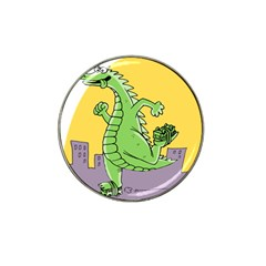 Godzilla Dragon Running Skating Hat Clip Ball Marker