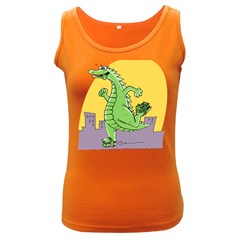 Godzilla Dragon Running Skating Women s Dark Tank Top
