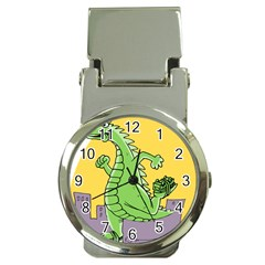 Godzilla Dragon Running Skating Money Clip Watches