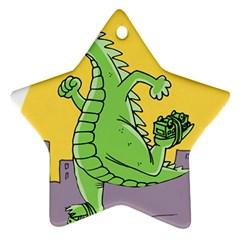Godzilla Dragon Running Skating Star Ornament (Two Sides)