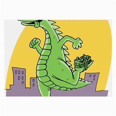 Godzilla Dragon Running Skating Large Glasses Cloth (2-Side)