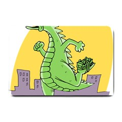 Godzilla Dragon Running Skating Small Doormat