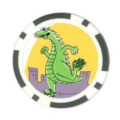 Godzilla Dragon Running Skating Poker Chip Card Guards