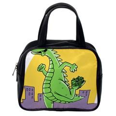 Godzilla Dragon Running Skating Classic Handbags (One Side)