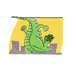 Godzilla Dragon Running Skating Cosmetic Bag (Large)