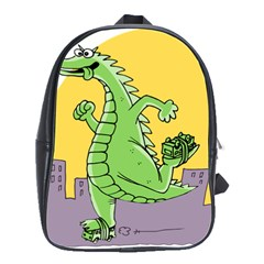 Godzilla Dragon Running Skating School Bags(Large)