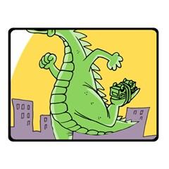 Godzilla Dragon Running Skating Fleece Blanket (Small)