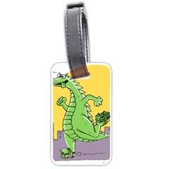 Godzilla Dragon Running Skating Luggage Tags (Two Sides)