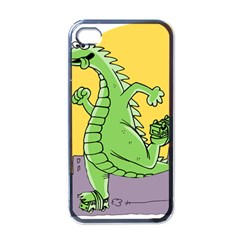 Godzilla Dragon Running Skating Apple iPhone 4 Case (Black)