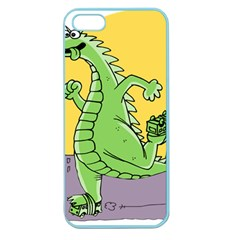 Godzilla Dragon Running Skating Apple Seamless iPhone 5 Case (Color)