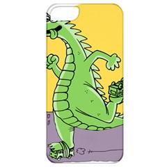 Godzilla Dragon Running Skating Apple iPhone 5 Classic Hardshell Case