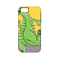 Godzilla Dragon Running Skating Apple iPhone 5 Classic Hardshell Case (PC+Silicone)