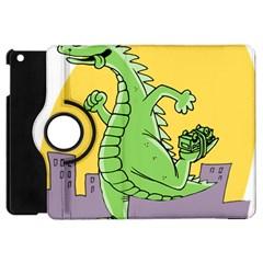 Godzilla Dragon Running Skating Apple iPad Mini Flip 360 Case