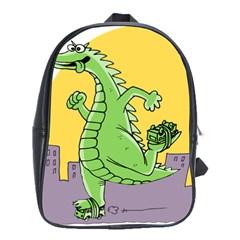 Godzilla Dragon Running Skating School Bags (XL)