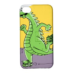 Godzilla Dragon Running Skating Apple iPhone 4/4S Hardshell Case with Stand