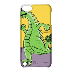 Godzilla Dragon Running Skating Apple iPod Touch 5 Hardshell Case with Stand