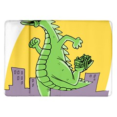 Godzilla Dragon Running Skating Samsung Galaxy Tab 10.1  P7500 Flip Case