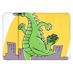 Godzilla Dragon Running Skating Samsung Galaxy Tab 8.9  P7300 Flip Case