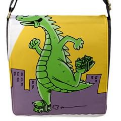 Godzilla Dragon Running Skating Flap Messenger Bag (S)