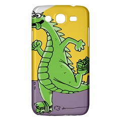 Godzilla Dragon Running Skating Samsung Galaxy Mega 5.8 I9152 Hardshell Case