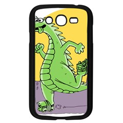 Godzilla Dragon Running Skating Samsung Galaxy Grand DUOS I9082 Case (Black)