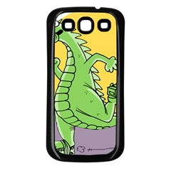 Godzilla Dragon Running Skating Samsung Galaxy S3 Back Case (Black)