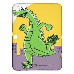 Godzilla Dragon Running Skating Samsung Galaxy Tab 3 (10.1 ) P5200 Hardshell Case