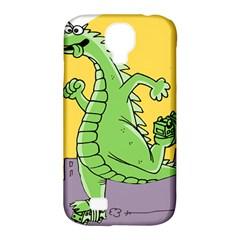 Godzilla Dragon Running Skating Samsung Galaxy S4 Classic Hardshell Case (PC+Silicone)