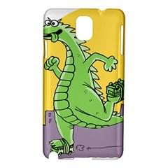 Godzilla Dragon Running Skating Samsung Galaxy Note 3 N9005 Hardshell Case