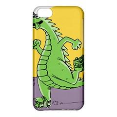 Godzilla Dragon Running Skating Apple iPhone 5C Hardshell Case