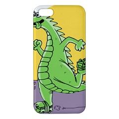 Godzilla Dragon Running Skating iPhone 5S/ SE Premium Hardshell Case