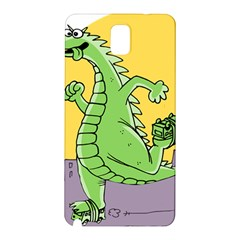 Godzilla Dragon Running Skating Samsung Galaxy Note 3 N9005 Hardshell Back Case