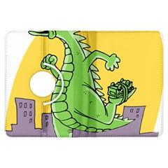 Godzilla Dragon Running Skating Kindle Fire HDX Flip 360 Case