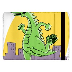 Godzilla Dragon Running Skating Samsung Galaxy Tab Pro 12.2  Flip Case