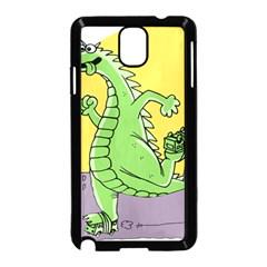 Godzilla Dragon Running Skating Samsung Galaxy Note 3 Neo Hardshell Case (Black)