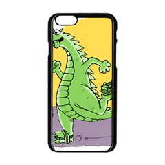 Godzilla Dragon Running Skating Apple iPhone 6/6S Black Enamel Case