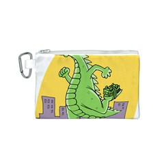 Godzilla Dragon Running Skating Canvas Cosmetic Bag (S)