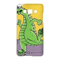 Godzilla Dragon Running Skating Samsung Galaxy A5 Hardshell Case