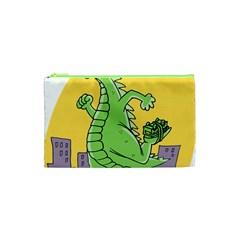 Godzilla Dragon Running Skating Cosmetic Bag (XS)
