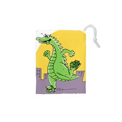 Godzilla Dragon Running Skating Drawstring Pouches (XS)